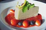 Lemon Myrtle Cheese Cake Slice